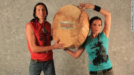 Siblings Jeneda and Clayson Benally pose as the punk-rock duo Sihasin.