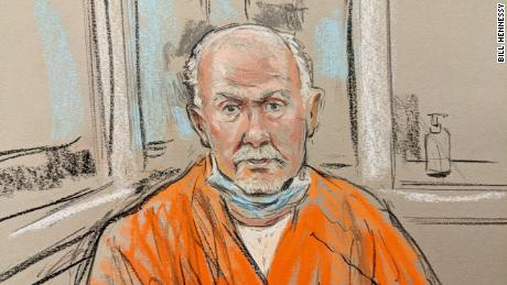 A courthouse sketch depicts Lonnie Leroy Coffman during his arraignment.