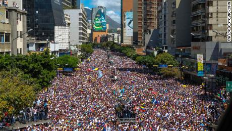 An anti-Maduro protest in 2019.