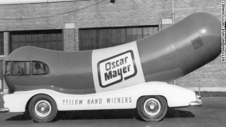 The Oscar Mayer Weinermobile ran in the 1950s.
