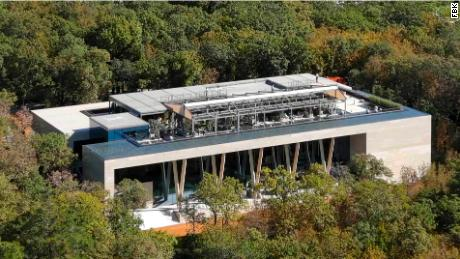The property has a 2,500-square-meter greenhouse, according to drone video shot by FBK.