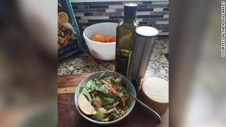 Mullarkey prepares salads; she can still taste lemon and salt and pepper.