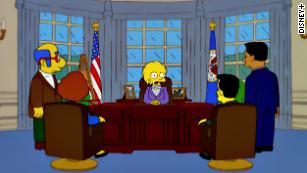 """Lisa Simpson as president in the 2000 episode """"Bart to the Future"""""""