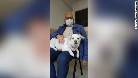 Bonkuk, pictured here with owner Kemal Centurak, waited outside the hospital for six days.