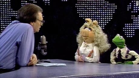 Larry King Kermit and Ms.  Piggy was interviewed.