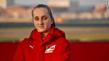 Maya Weug is the first woman to earn a place in the Ferrari Driver Academy.