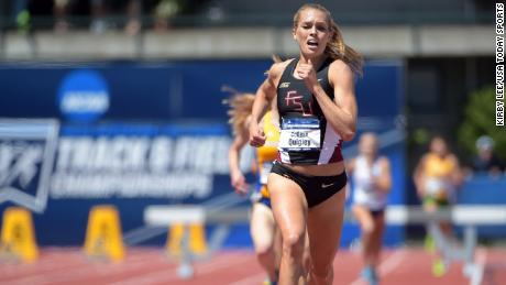 Quigley takes victory in the 2015 NCAA Track & Field Championships.