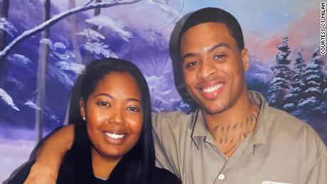 Brittany Barnett meets with Young, her client, in this undated photo from his time in prison.