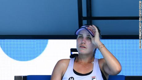 Sofia Kenin says she struggled with the pressure of being the defending champion.