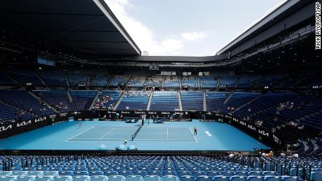 American Serena Williams, right, serves to Russia's Anastasia Potapova during their third round match on Rod Laver Arena at the Australian Open tennis championship in Melbourne, Australia, on Friday.