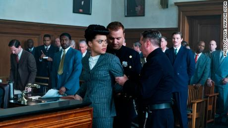 Andra Day (center) in 'The United States vs. BIllie Holiday' (Takashi Seida).