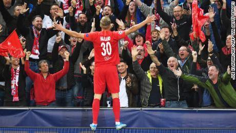 Erling Haland burst onto the Champions League scene with RB Salzburg.