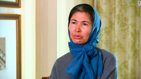Speaking to CNN from the US, Tursunay Ziyawudun said that she was taken to a cell with about 20 other women, where they were given little food and water.