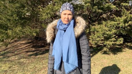 Tursunay Ziyawudun now lives in the US after being rushed there for medical treatment for problems she says are related to her detention.
