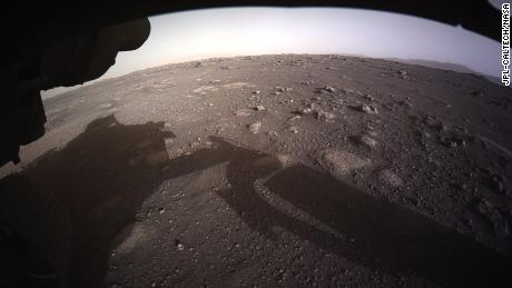 This is the first color image released from Perseverance on the Martian surface.