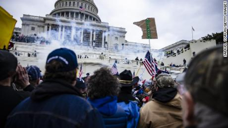 Pro-Trump supporters storm the US Capitol  on January 6, 2021 in Washington, DC.