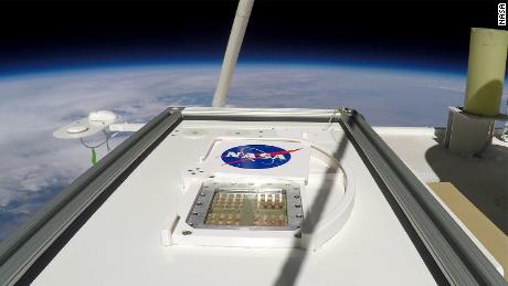 The MARSBOx took off in September 2019. Its door swung open, exposing samples of four different types of microorganisms to the extreme environmental conditions of Earth's stratosphere.