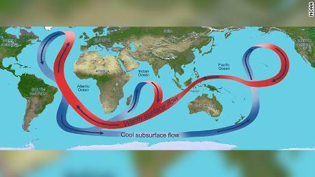South Atlantic Ocean Circulation Map