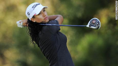 Shasta Averyhardt plays a shot on the Symetra Tour during the second round of the Volvik Championship on the Palmer Course at Reunion Resort in Florida in 2013.