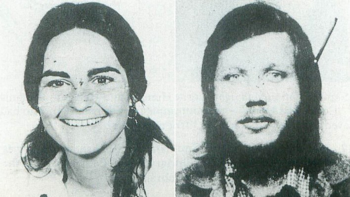 Connie Jo Bronzich (left) and Laurent Carrière were killed by Sobhraj in Nepal in 1975. Decades later, he was convicted of both murders.