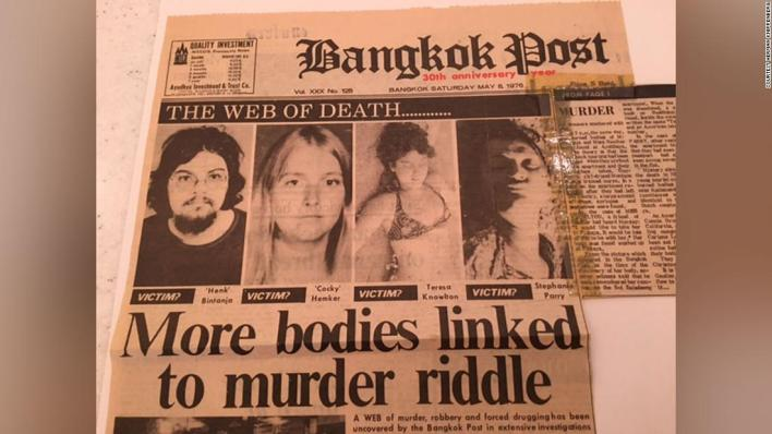 Web of Death: Reports of the murders hit the Bangkok Post's front page on May 8, 1976.