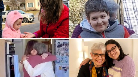 Grandparents are starting to hug their grandchildren for the first time after being vaccinated