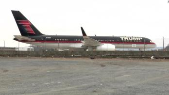 Trump's 757 sits idle in March 2021.