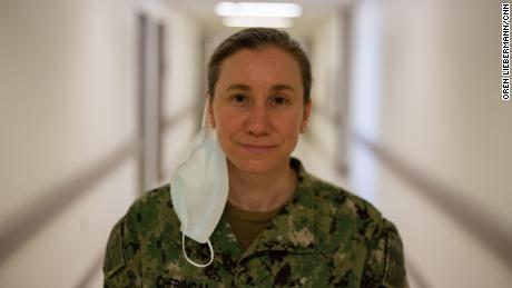 Lt. Cmdr. Julia Cheringal, a public health emergency officer at Naval Medical Center Portsmouth.