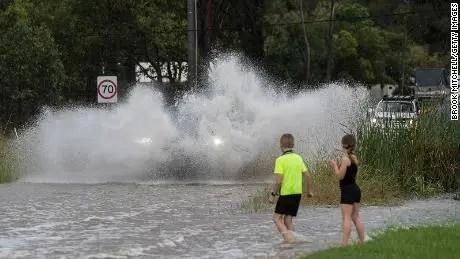 The whole house floats as floods flood Australia and the East Coast