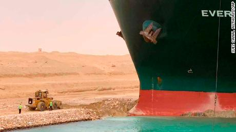 An Egyptian official warned Wednesday it could take at least two days to clear the ship.