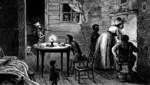Visit of the Ku-Klux, Wood Engraving, Harper's Weekly, 24 February 1872.