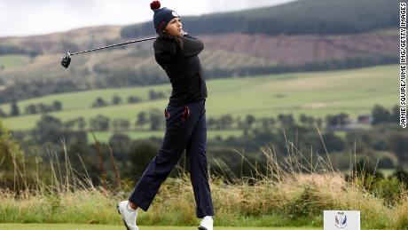 Pano in action during the Junior Solheim Cup.