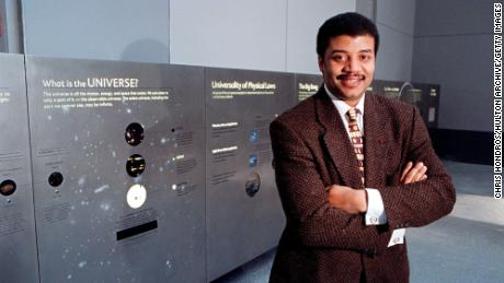 Neil de Grasse Tyson has been spreading the word about space for a long time. Here's shown in 2000.