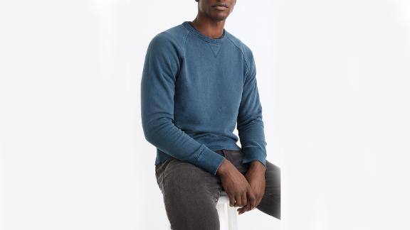 Madewell Garment Dyed Crewneck Sweatshirt
