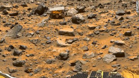 Hitching a ride on the Mars Pathfinder mission, the Sojourner rover arrived on July 4, 1997.