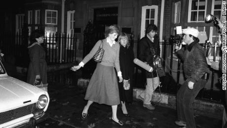 Before marrying Prince Charles, Diana Spencer, pictured in 1980, lived at the Colehorn Court in London.