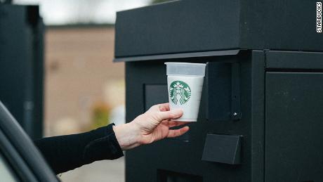Starbucks has a new experimental reusable cup