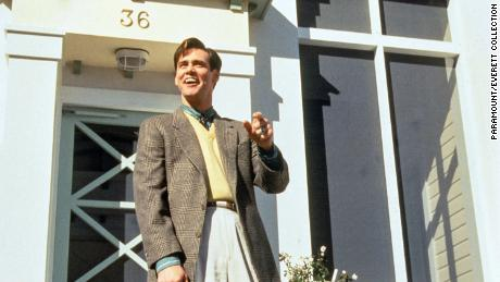 """Jim Carrey in """"The Truman Show,"""" 1998. Gaetz's childhood home was used for the movie."""