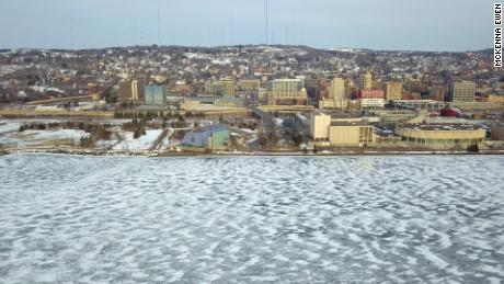 A view of Duluth, Minnesota, on the shores of Lake Superior.
