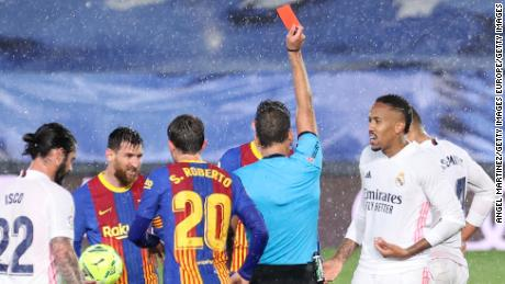 Casemiro was red carded late on in the game.