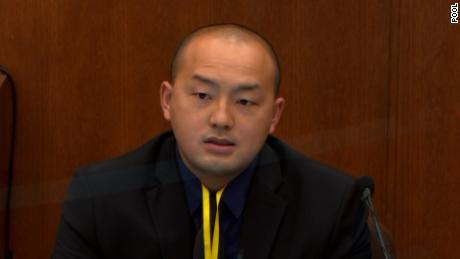 Minneapolis Park Police officer Peter Chang said he heard the crowd of bystanders yelling on May 25, 2020.