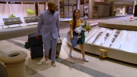 """Tarik's fiance, Hazel, arrives in Virginia Beach, Virginia, from the Philippines. The couple appeared on the latest season of """"90 Day Fiance."""""""