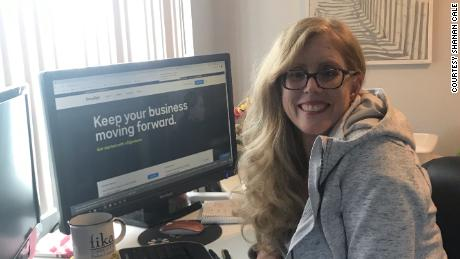 Shanan Cale at her home workspace in California, where she'll continue to work most days after the pandemic.