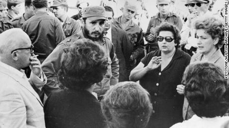 Cuban Prime Minister Fidel Castro, while speaking with the parents of some American prisoners, was taken hostage by the Cuban government for food and supplies after the disgusting Amigre attack on the Begs in January 1963.