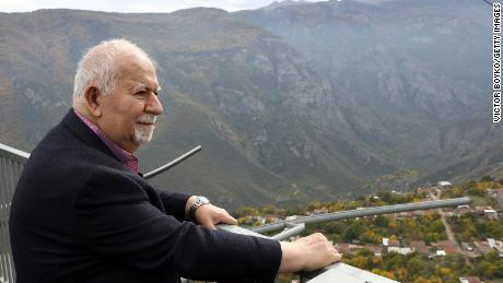 Vartan Gregorian at the Aurora Forum on October 21, 2019 in Tatev, Armenia.