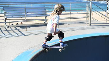 Paige spends much of her free time at Bato Yard Skatepark.