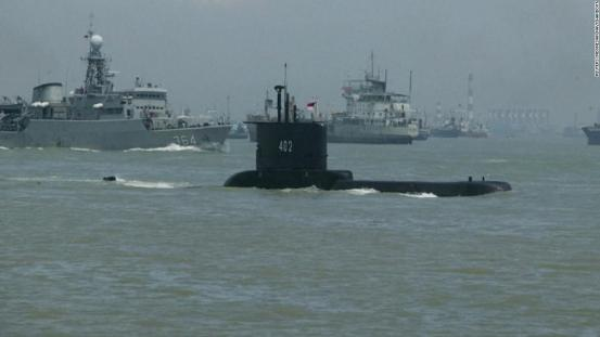 Indonesia: The missing Indonesian submarine has enough oxygen for the crew by Saturday, says the Navy