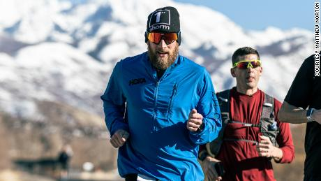 Lawrence runs 26.2 miles (42.195km) every day, and plans to do it 100 consecutive times.