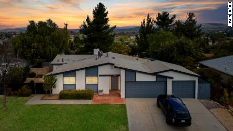 This two-unit home in Thousand Oaks, California, along with a digital artwork of the property, was put up for auction as an NFT.