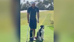 Tiger Woods on crutches in first Instagram photo of himself since his car accident